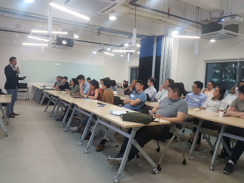 Investors attending AngelCentral Singapore Pitch Day